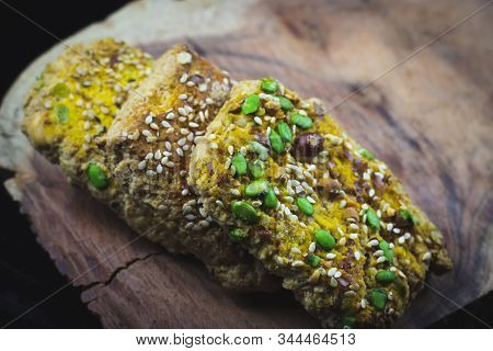 Tilgul Or Sweet Sesame Cookies For Indian Festival, Special Treat Prepeared On The Ocassion Of Makar