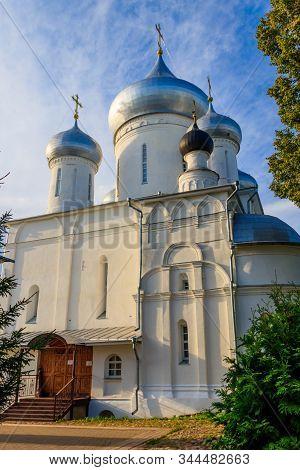 Nikitsky Cathedral Of Nikitsky Monastery In Pereslavl-zalessky, Russia. Golden Ring Of Russia