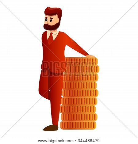 Millionaire Icon. Cartoon Of Millionaire Vector Icon For Web Design Isolated On White Background