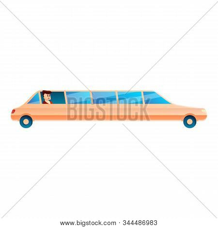 Millionaire Limousine Icon. Cartoon Of Millionaire Limousine Vector Icon For Web Design Isolated On