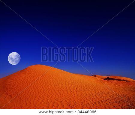 African Desert At Night