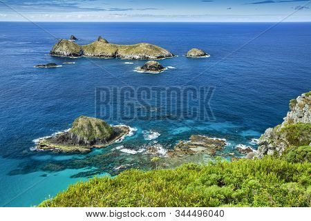 Top View Of Roach And The Admiralty Islands, Lord Howe Island, The Tasman Sea, Australia