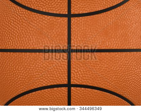 3d Rendering Basketball Ball Close Up With Rough Texture