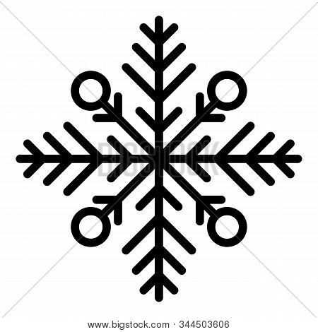Frost Snowflake Icon. Outline Frost Snowflake Vector Icon For Web Design Isolated On White Backgroun