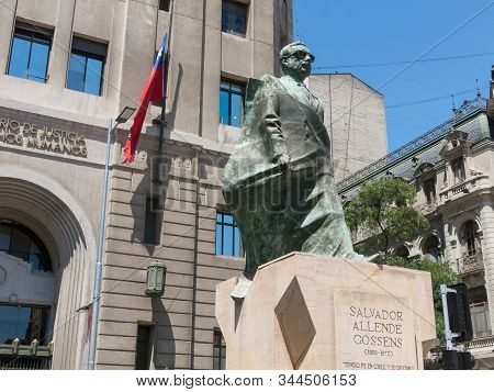 Santiago De Chile, Chile - January 26, 2018: : Monument To Chilean Statesman And Political Figure. S