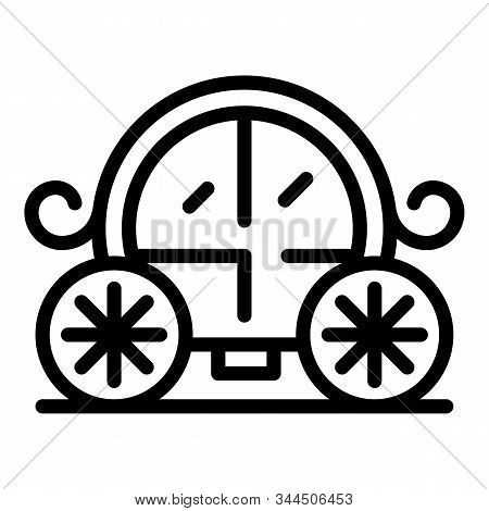 Wedding Carriage Icon. Outline Wedding Carriage Vector Icon For Web Design Isolated On White Backgro