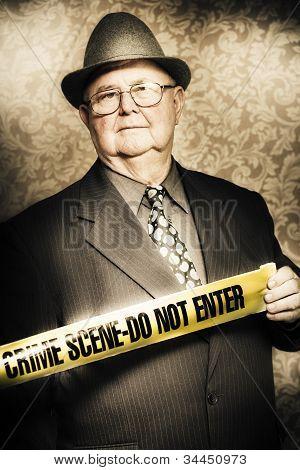 Astute Fifties Crime Scene Investigator