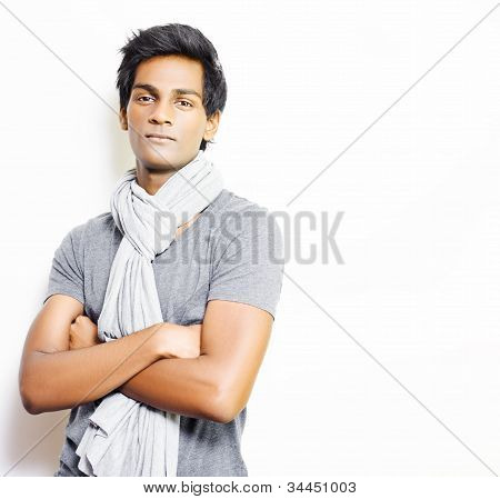 Enigmatic Fashionable Young Man