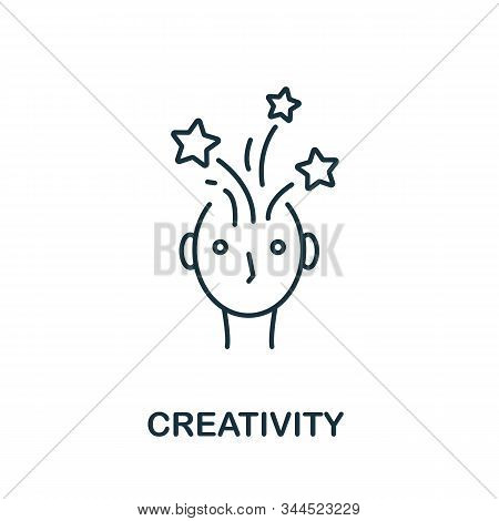 Creativity Icon. Line Style Symbol From Productivity Icon Collection. Creativity Creative Element Fo