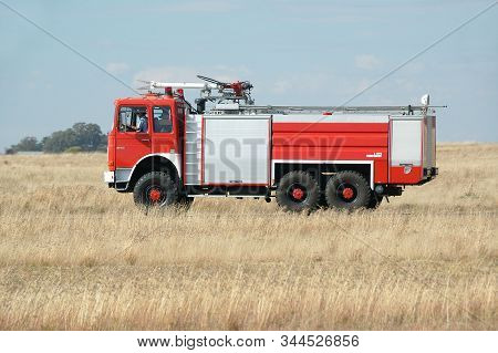 Bloemfontein, South Africa - May 5, 2008: A Fire Truck At An Airshow At The Tempe Airport