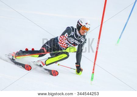 Zagreb, Croatia - January 5, 2020 : Samuel Kolega From Croatia Competing During The Audi Fis Alpine