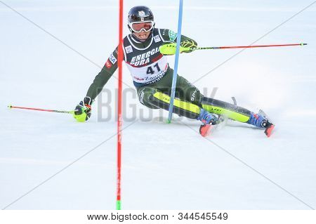 Zagreb, Croatia - January 5, 2020 : Luke Winters From United States Competing During The Audi Fis Al