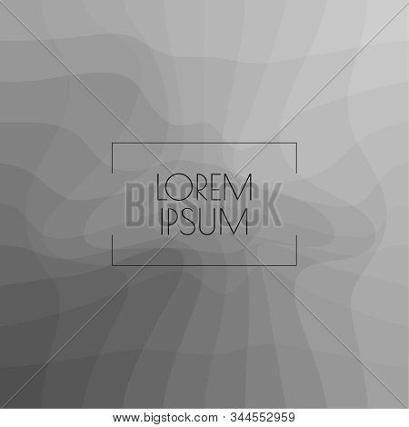 Billowy Background Black And White. Grey Backdrop With Distortion Dynamic Square. Vector Texture Wit