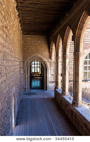 Inside 13Th Century Citadel Castle In France