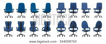 Office Chair Isolated Cartoon Icon.vector Illustration Interior Furniture On White Background . Vect