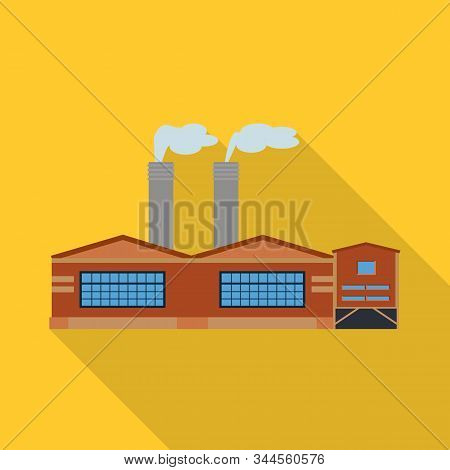 Isolated Object Of Manufactory And Fuel Symbol. Collection Of Manufactory And Oil Vector Icon For St