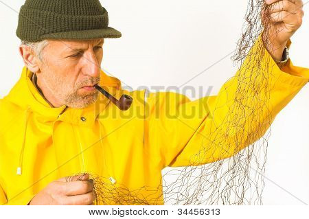Fisherman with his net
