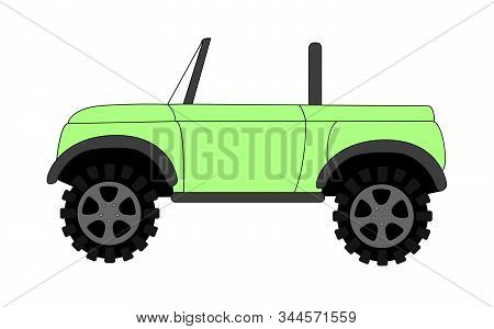 Four Wheel Drive Off Road Vector Illustration