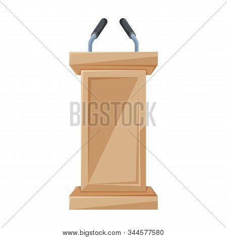 Tribune Vector Icon.cartoon Vector Icon Isolated On White Background Tribune .