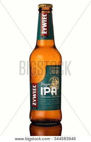 Bratislava, Slovakia, 09 January 2020: Sesyjne Ipa Chmielowe, Bottle Of Polish Beer