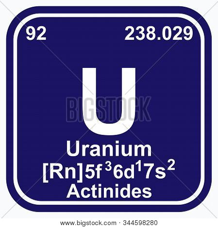 Uranium Periodic Table of the Elements Vector illustration eps 10. poster