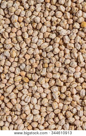Close-up Of Chickpeas, High-quality Texture. Healthy Vegetarian Food. Top View