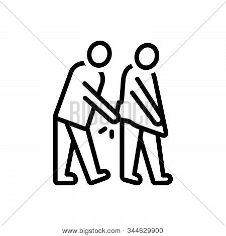 Black Line Icon For Degenerate Retrograde Sordid People