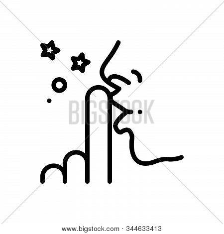 Black Line Icon For Discretion Prudence Silent Secret Mute Finger Voiceless Finger-on-lip