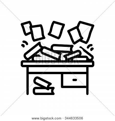 Black Line Icon For Disorganize Haphazard Scrappy Disorganized Disorderly Straggling