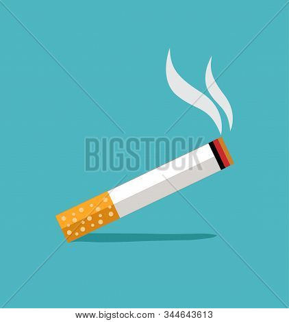 Smoking Sign Illustration Design On Blue Background