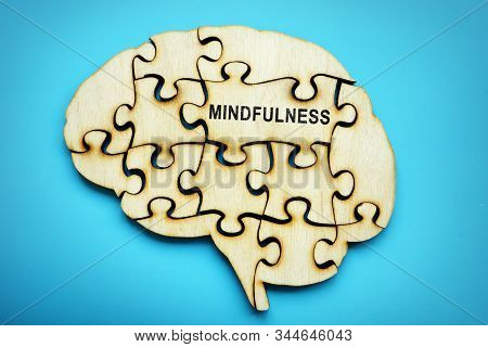 Word Mindfulness On The Piece Of Puzzle.