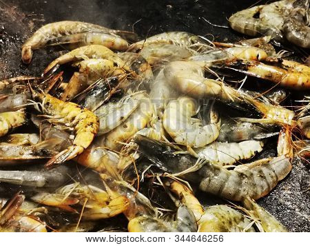 Grilled Scampi Texture As Nice Gourmet Background