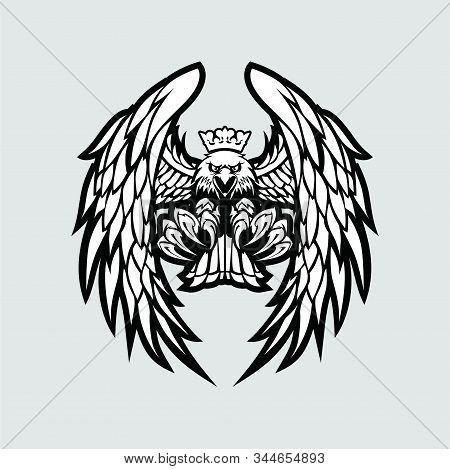 Eagle Icon, Eagle Logo, Eagle Icon Isolated Black On White Background, Eagle Icon Picture, Eagle Ico