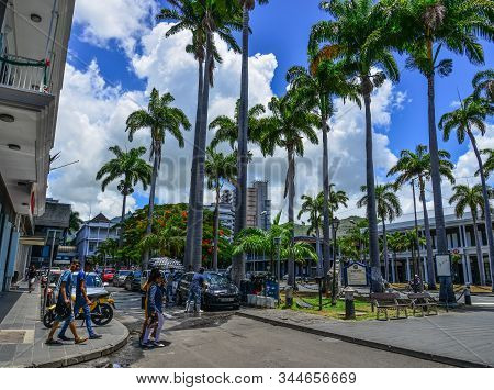 Cityscape Of Port Louis Dowtown In Mauritius