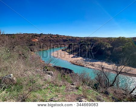View Of The Pedernales River From Milton Reimer Ranch Park In Austin, Texas