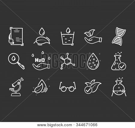 Set Of Icons For Different Medical Specialization. Anti-dandruff Flakes Free Icons. Paraben Chemical