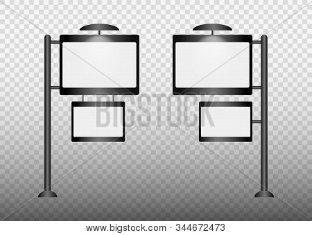 Set Of Light Boxes Template. Outdoor 3d Retail Lighting Billboards. Advertising Promotion, Signboard