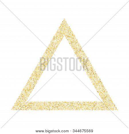 Gold Sparkles Glitter Dust Metallic Confetti Vector Background. Glamour Golden Sparkling Background.