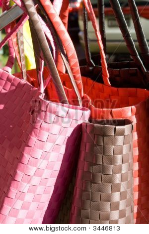 Shopping Bags In Various Colors