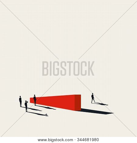 Business Competition Vector Concept With Businessman Leaving Competitors Behind. Symbol Of Winning,