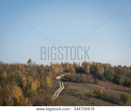Unpaved road on country land