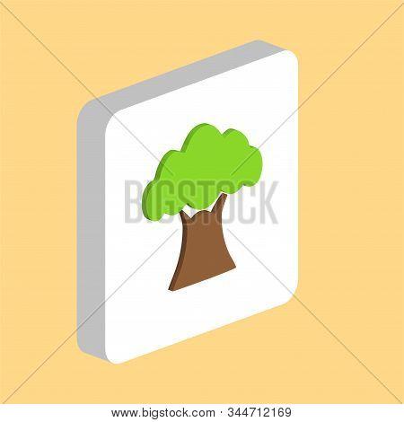 African Baobab Tree Simple Vector Icon. Illustration Symbol Design Template For Web Mobile Ui Elemen