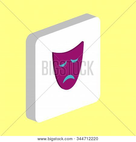 Tragedy Mask Simple Vector Icon. Illustration Symbol Design Template For Web Mobile Ui Element. Perf
