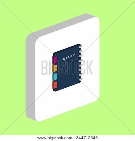 Diary, Copybook Simple Vector Icon. Illustration Symbol Design Template For Web Mobile Ui Element. P