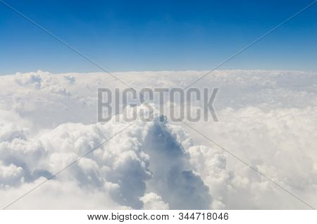 Sky and clouds stratosphere view