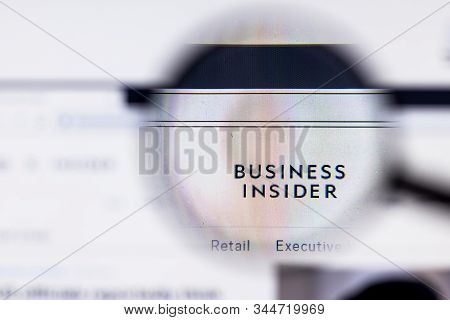 Saint-petersburg, Russia - 10 January 2020: Business Insider Website Page On Laptop Display With Log