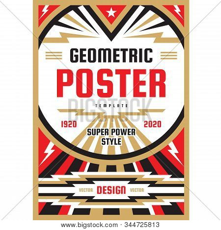 Art Vertical Poster Template In Heavy Power Style. National Patriotism Postare. Freedom Vertical Pos