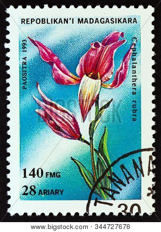Madagascar - Circa 1993: A Stamp Printed In Madagascar From The