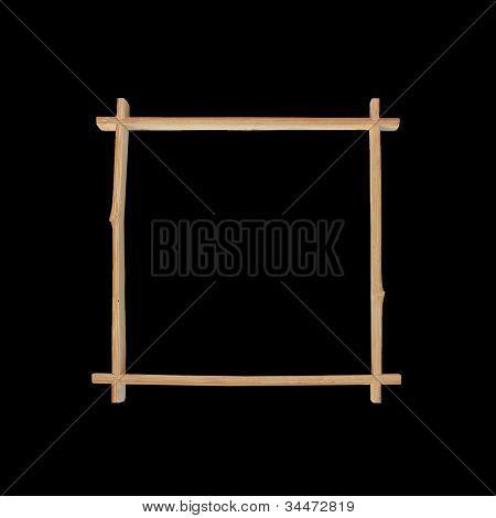 Bamboo Frame On Black