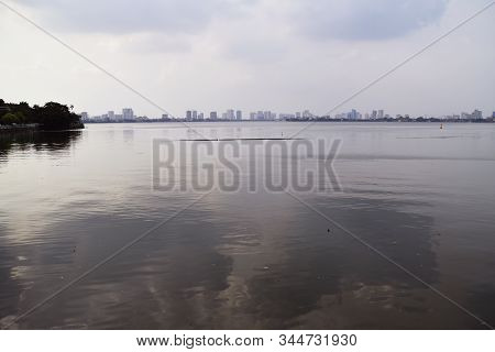 Panoramic View Of Contaminated Tay Lake In Hanoi